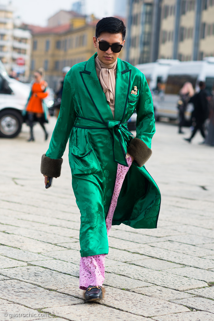 Bryanboy at Gucci FW2016