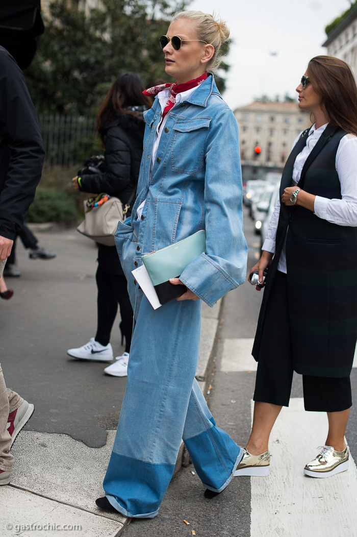 Daring in Denim, Outside Max Mara FW2016