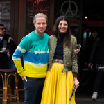 Oscar Engelbert and Giovanna Battaglia at Paris Fashion Week FW2