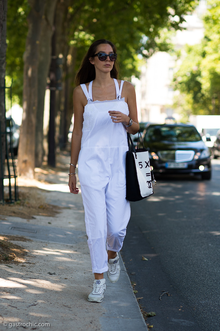 White Overalls, Outside Dior Couture FW2015