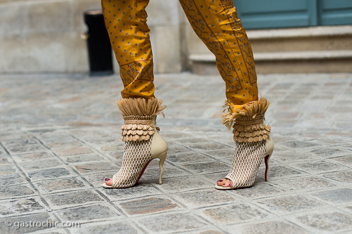 Louboutins at Alexis Mabille Couture FW2016