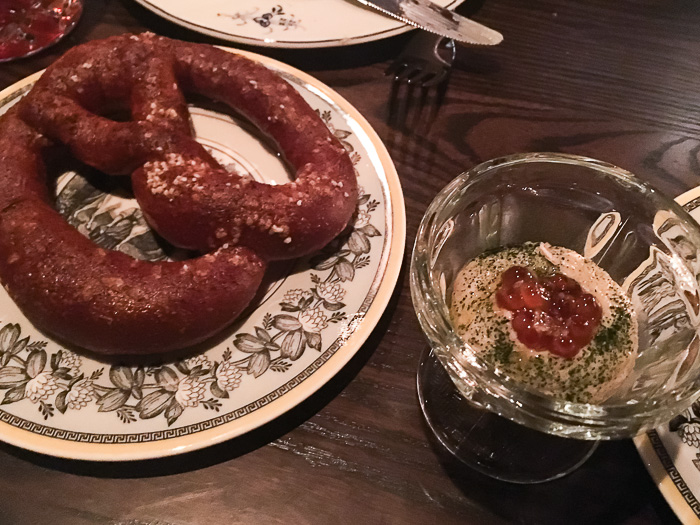 Pretzel with Roe and Remoulade, Chumley's