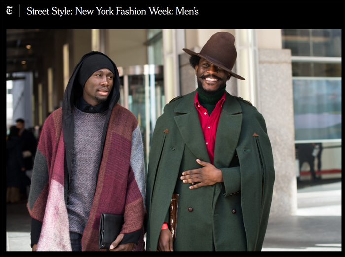 db6f5a000 Proud to photograph street style during NYFW  Men s for failing New York  Times! Here s the resulting slideshow. Terrific!