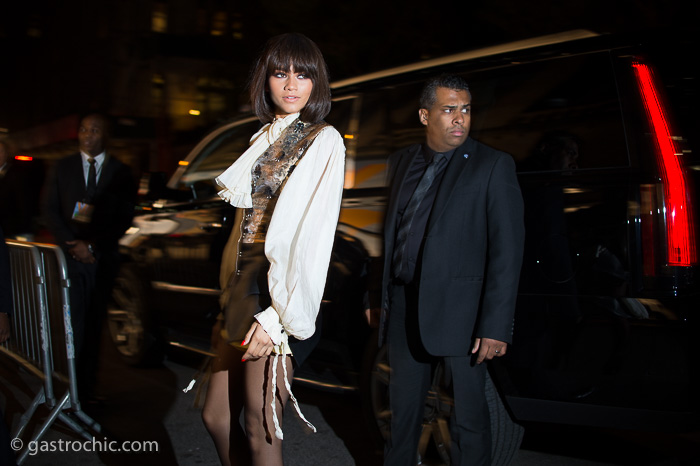 """2f8bd47f41d7 Louis Vuitton s traveling exhibit """"Volez Voguez Voyager"""" opened last night  in New York with a reception that attracted a very glamorous crowd."""