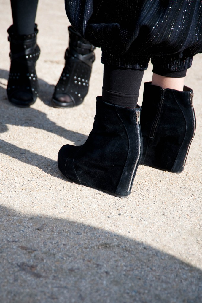 Black Zipper Wedges, Christian Dior Show