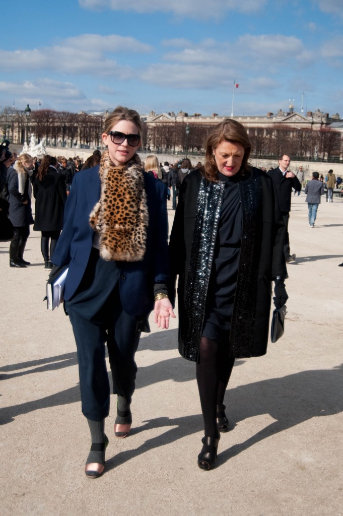 Glenda Bailey and Friend, Christian Dior Show