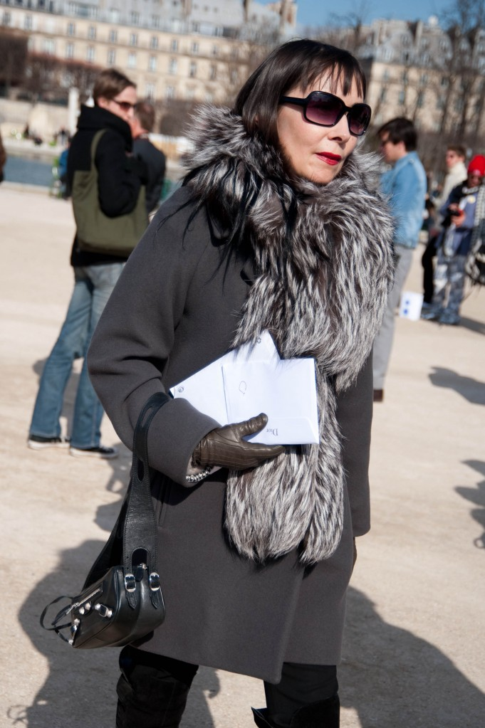 Fur Scarf and Red Lipstick, Christian Dior