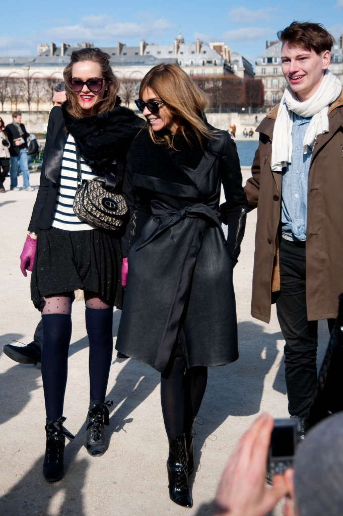 Carine Roitfeld with Fans at Christian Dior