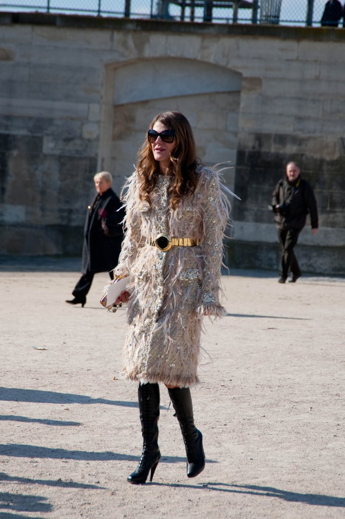 Anna Dello Russo at Christian Dior