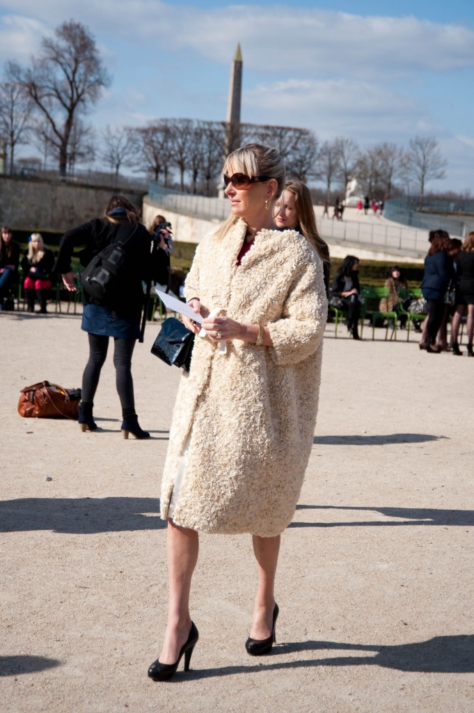 White Wooly Coat, Christian Dior Show