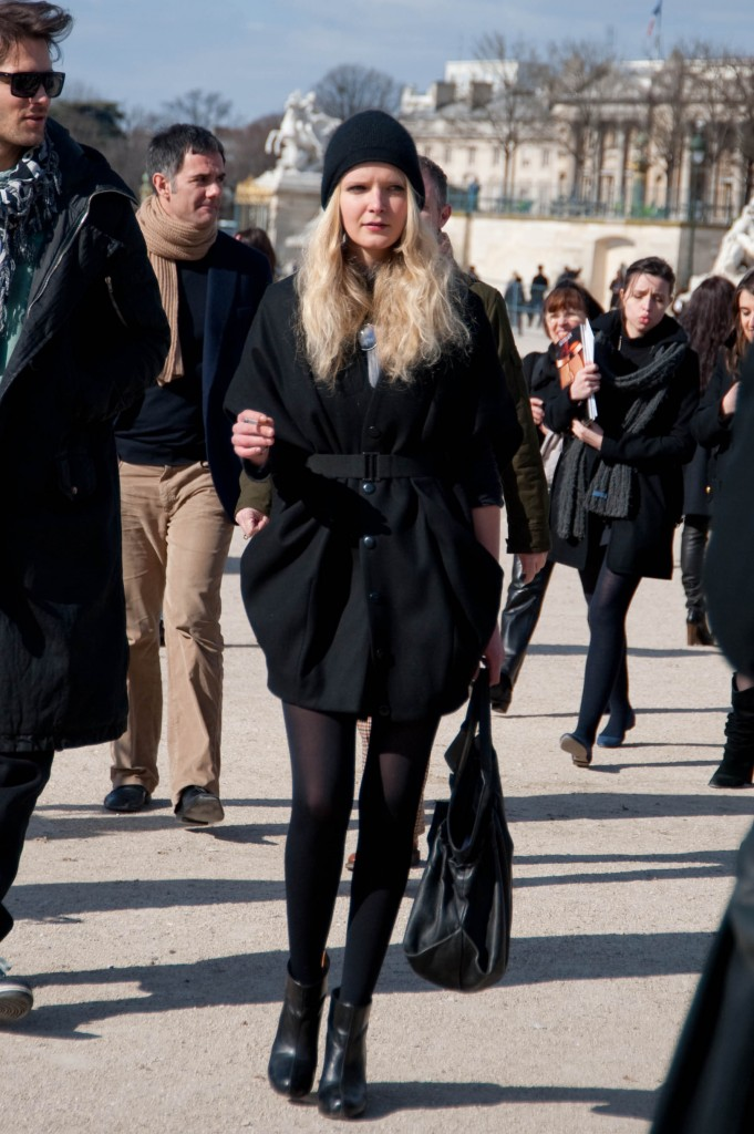 Sculptural Black Coat, Christian Dior Show