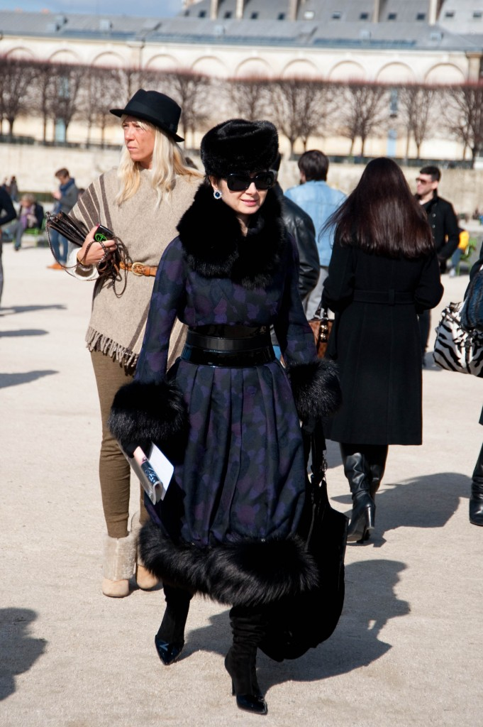 Fur-Trimmed Coat and Hat, Christian Dior Show