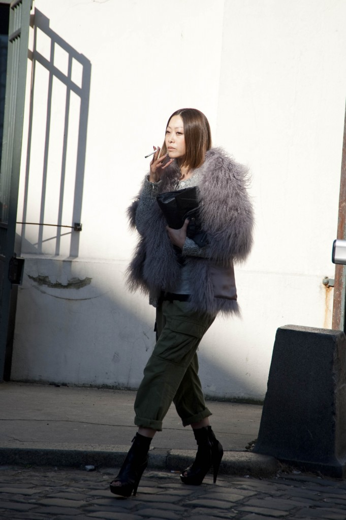 Fluffy Gray Fur Coat, Isabel Marant Show