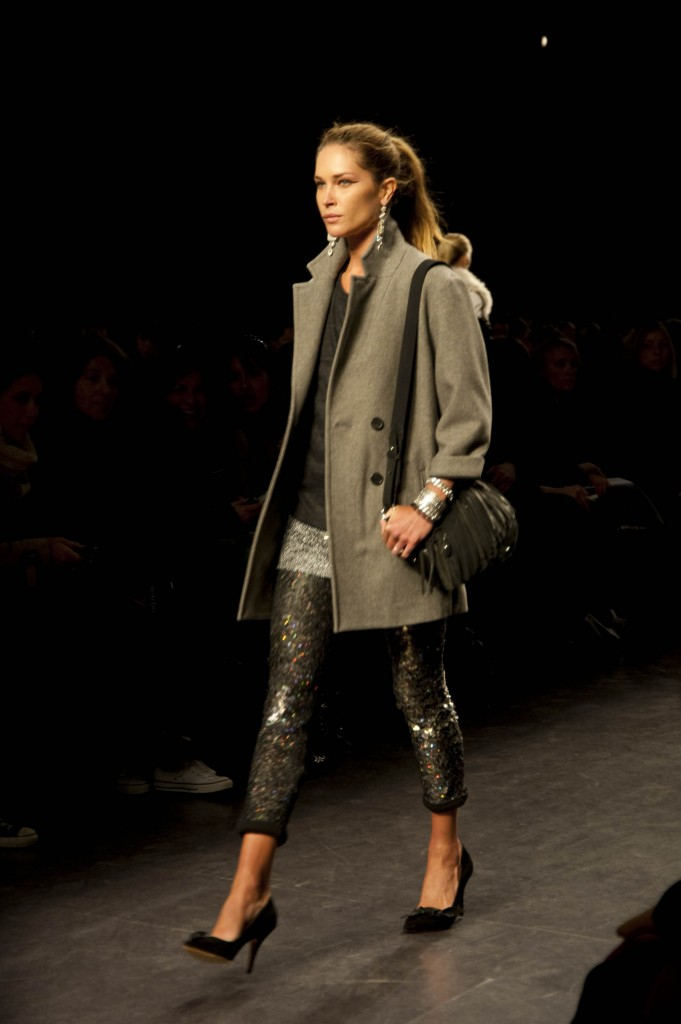 Overcoat and Glitter Leggings, Isabel Marant Fall Winter 2010 Co