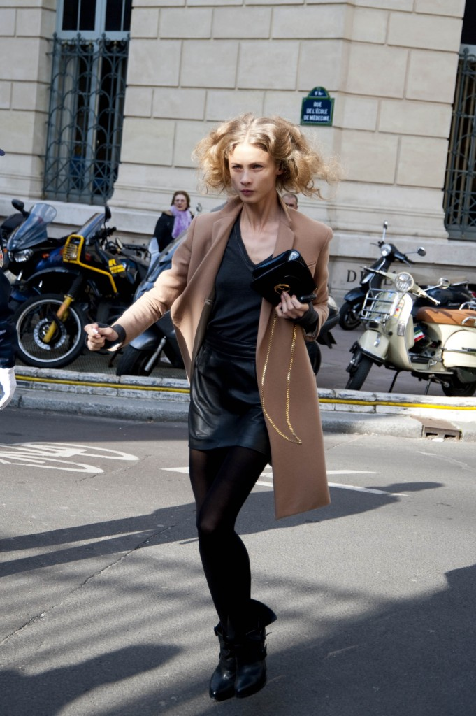 Model in a Leather Skirt, Isabel Marant Show